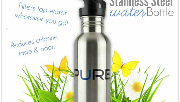 Filtered Stainless Steel Water Bottle